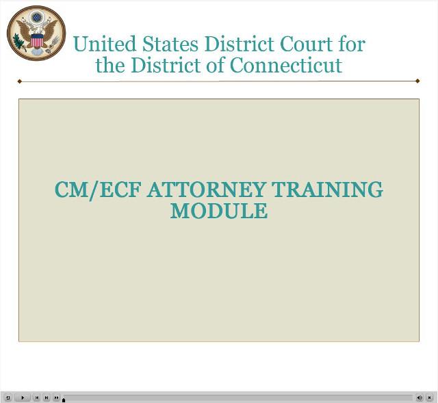 CMECF Attorney Training